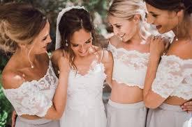 affordable bridesmaids dresses 2 pieces lace top sleeve wedding bridesmaid dresses