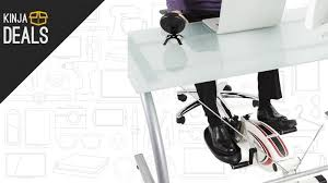 get a workout while you work with this under desk elliptical