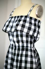 Black And White Buffalo Check Curtains Buffalo Check Everything Like This Black And White Sundress