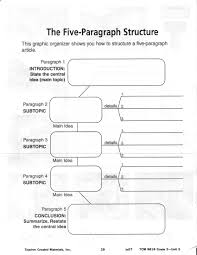 essay graphic organizer 3 teaching