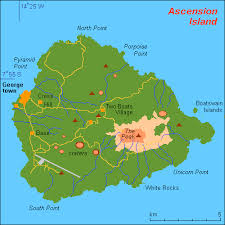 islands map map of ascension island and information page