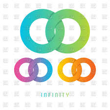 infinity sign infinity sign different colored vector clipart image 79609