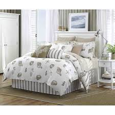 Seashell Queen Comforter Set Bedroom Superb Beach Themed Living Room Ocean Comforter Beach