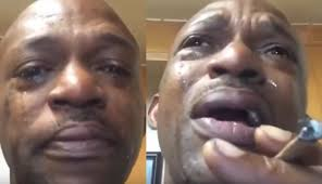 Black Guy Crying Meme - man in tears after smoking the best weed of his life video