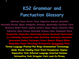 ks2 grammar and punctuation glossary by kosmothekommie teaching
