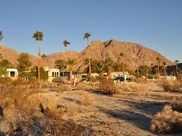 vintage trailer glamping in the warm desert of borrego springs