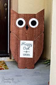Outdoor Wood Decor Diy Wood Owl Outdoor Decor Happy Owl O Ween Domestically Speaking