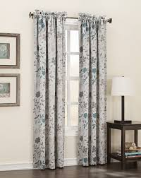 Sears Drapery Dept by Logan Leaf Print Room Darkening Panel Pair Energy Efficient At Kmart