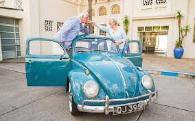 volkswagen car beetle old classic vw bugs 55 year old honeymoon road trip in a vintage