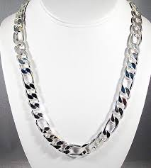 figaro chain silver necklace images 30 39 39 12mm w gold finish silver figaro chain necklace for sale jpg