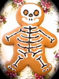 the half cut cook skeleton gingerbread men