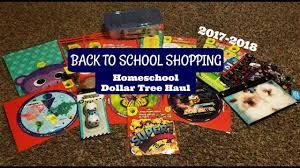 back to school dollar tree shopping homeschool haul
