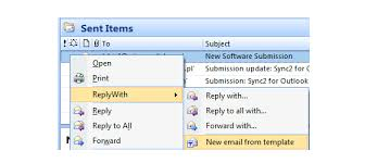 use microsoft outlook reply with template add in to create your