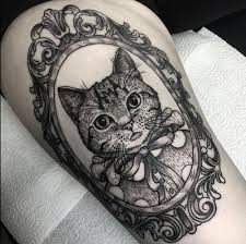 cat portrait tattoo uploaded by gillian on we heart it