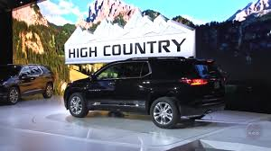 2018 chevrolet traverse redline 2018 chevrolet traverse high country first look youtube