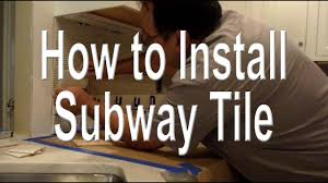 how to install a subway tile kitchen backsplash youtube