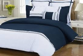 Blue And White Comforters Bedding Set Navy Blue Comforter Wonderful Navy White Bedding