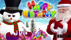 happy birthday songs santa cartoon animated birthday wishes