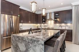 eat in kitchen islands beautiful waterfall kitchen islands countertop designs
