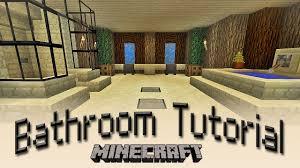 bathroom in minecraft minecraft how to make a bathroom tutorial