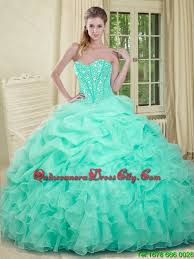 quince dresses 2015 summer apple green quinceanera dresses with beading and