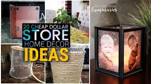 Cheap Home Decor Store by 20 Cheap Diy Dollar Store Decor Ideas Youtube