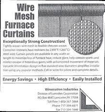furnace curtains bs u0026k company