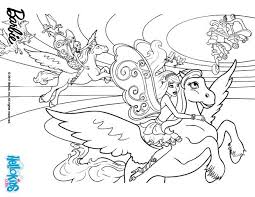 barbie u0027s winged horse coloring pages hellokids