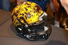 helmet design game asu football unveils cutting edge flame helmet design for notre