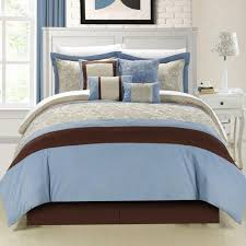 blue and brown bedroom set rooms