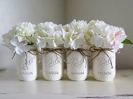 jar centerpieces for baby shower white distressed jars jar centerpieces wedding