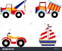 vector illustration toys excavator dump truck stock illustration