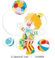 clipart of a happy clown with a royalty free vector