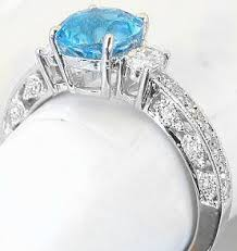 blue topaz engagement rings vintage inspired swiss blue topaz and oval diamond ring in 14k