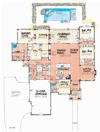 single story open floor plans villa lago home plan