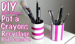 creation avec des rouleaux de papier toilette diy déco recyclage pot à crayon avec boite de conserve youtube