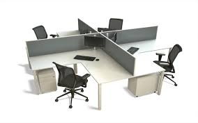 Office Table With Partition Desk Mounted Office Partition Screen Finished In Light Grey