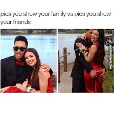 Prom Meme - family vs friends pictures ghetto red hot