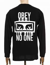 obey clothing obey clothing l s no one t shirt black obey clothing from