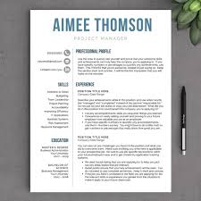 2 Page Resume Format Example by Creative Modern Resume Template For Word Us Letter And A4 1 U0026 2