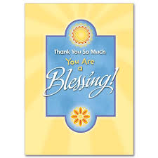 you are a blessing thank you card