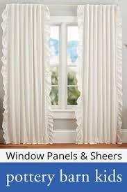 Pottery Barn Kids Window Treatments - ruffle blackout panel pottery barn kids for little u0027s room