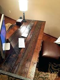Office Desk Diy Diy Rustic Office Desk Desks Pinterest Rustic Diy Rustic