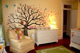 cool picture of jungle baby nursery room decoration using large cool picture of jungle baby nursery room decoration using large pink tree baby room wall mural including yellow baby room wall paint and white wood baby