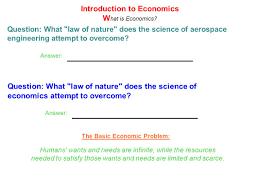 unit 1 introduction to economics ppt download