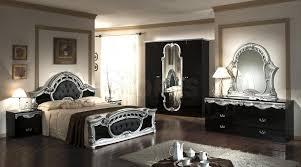 Italian Bedroom Sets Casablanca Italian Classic Black And Silver Bedroom Set Bed 2