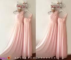 blush junior bridesmaid dresses light pink bridesmaid dress chiffon prom dress