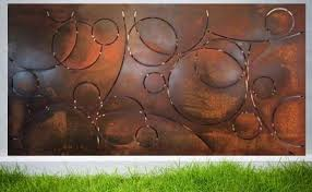 contemporary outdoor steel wall art denver co creative living