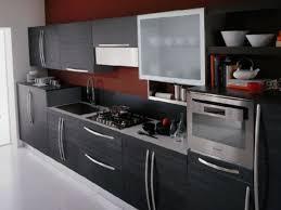 kitchen futuristic retro kitchen design with black l shape