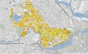 Boston Street Map Map Predicts Cambridge U0027s Fall Colors